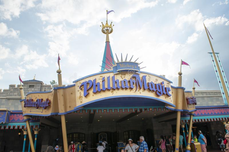 PhilharMagic, Disney World, Reis, Magisch Koninkrijk stock foto's