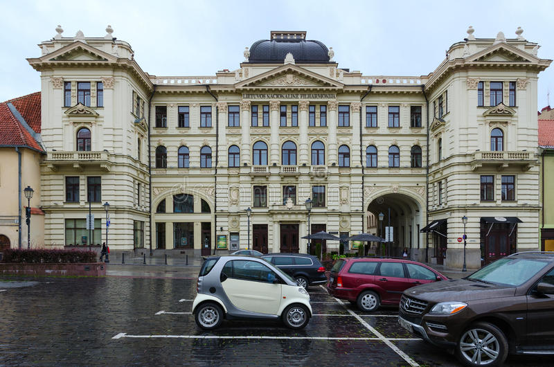 Philharmonia nazionale lituano, Vilnius, Lituania fotografia stock