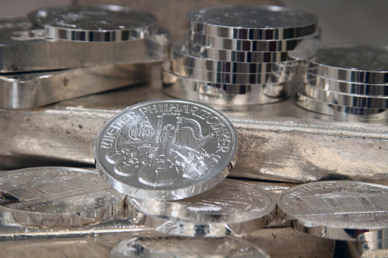 Download Philharmonic Austrian Silver Coin Stock Images - Image: 12881984