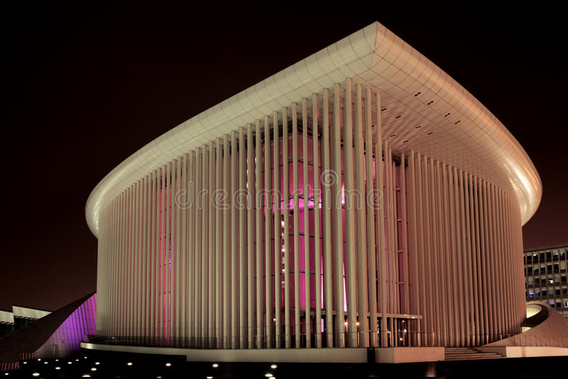 Philharmonie Luxemburgo fotos de archivo