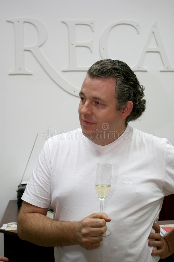 Philip Cox. Is one of the shareholders Cellars Recas, Timis county, Romania royalty free stock images