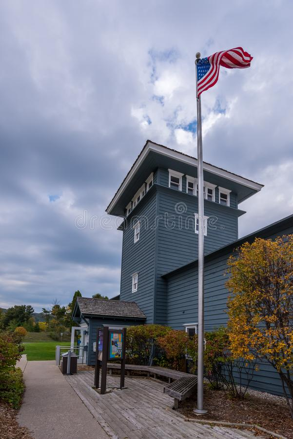 The Philip A. Hart Visitor Center for the Sleeping Bear Dunes National Lakeshore royalty free stock photo