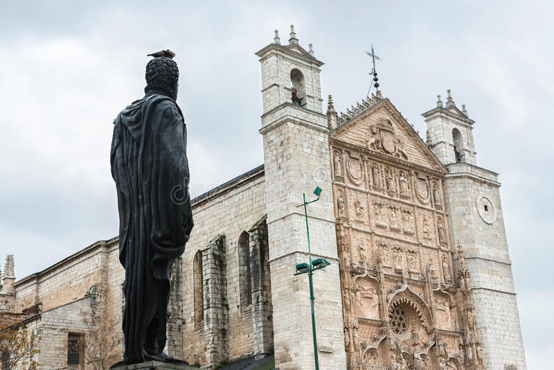 Philip II facing San Pablo Church in Valladolid royalty free stock images