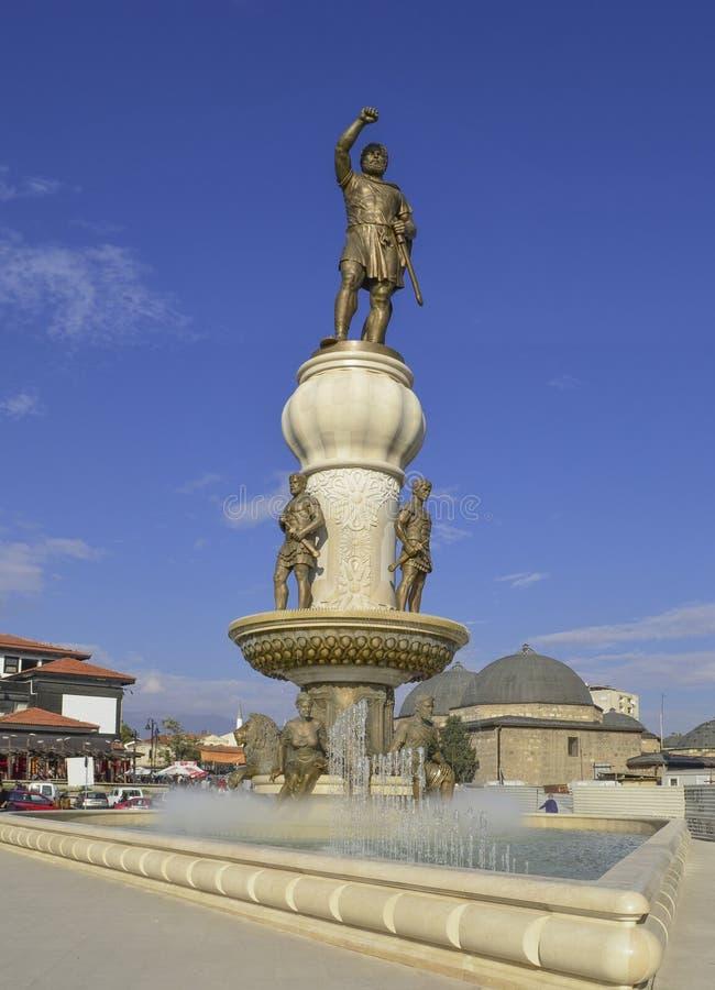 Philip II Macedon, Skopje, Macedonia obraz royalty free