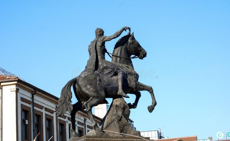 Philip II, Monument in Bitola, Macedonië royalty-vrije stock foto's