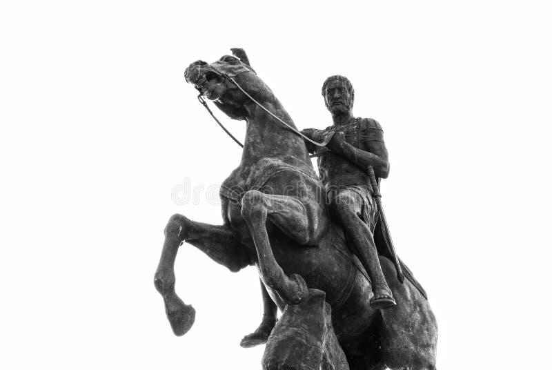 Philip II, Monument in Bitola, Macedonia. Philip II on a horse, , Statue in Bitola, Macedonia royalty free stock photography