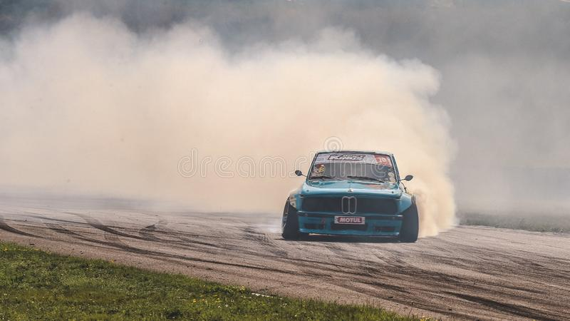 Philip Jager during the Drift Kings Europe Round 6 Germany royalty free stock photos