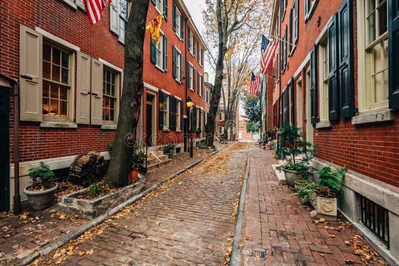Philip Street en colline de soci?t?, Philadelphie, Pennsylvanie photos stock