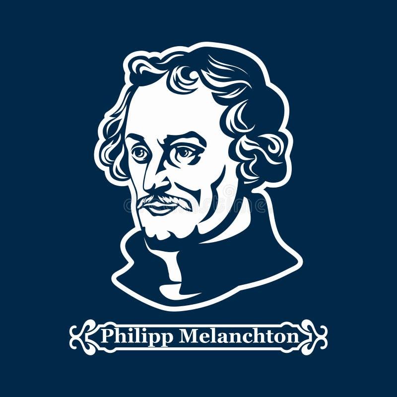 Philipp Melanchton protestantism Ledare av den europeiska Reformationen vektor illustrationer