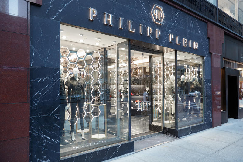 Philipp Plein-Speicher außen in Madison Ave in New York lizenzfreies stockfoto