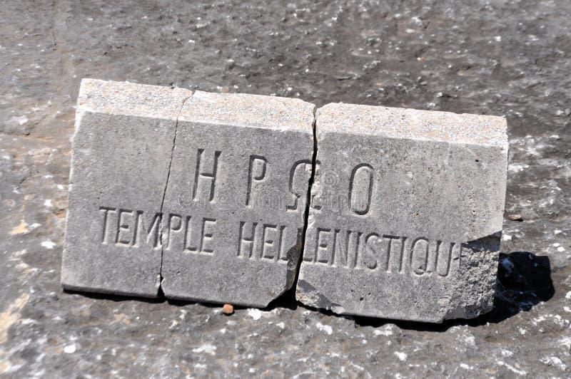 从Philippi考古学站点的石头  图库摄影
