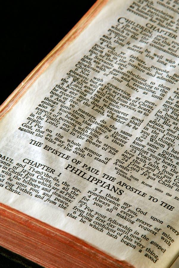 Philippians da série da Bíblia foto de stock royalty free