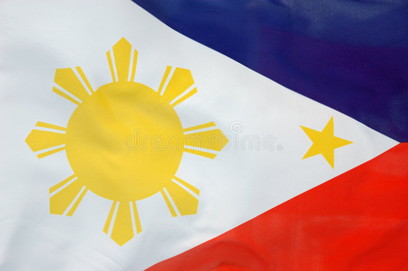 Philippine flag. Background of a flowing Philippine flag stock images