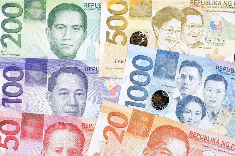 Philippine peso, a background. Philippine peso, a business background stock photography