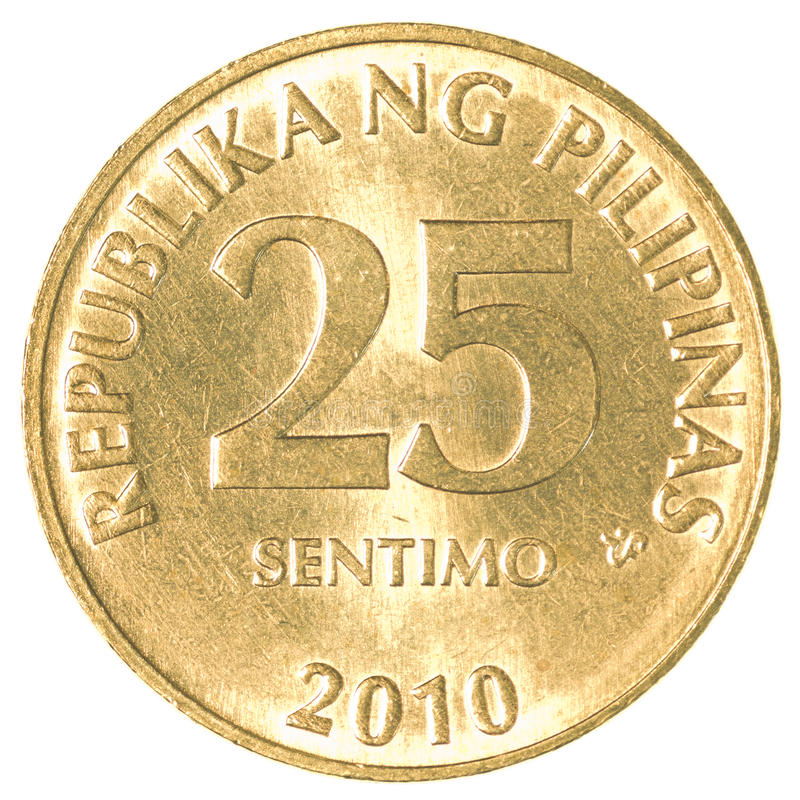 Philippine 5 Cents Coins: 25 Philippine Sentimo Coin Stock Image. Image Of Market