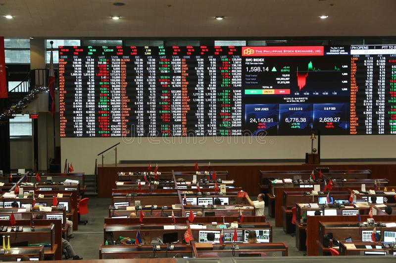 Philippine Stock Exchange royalty free stock images