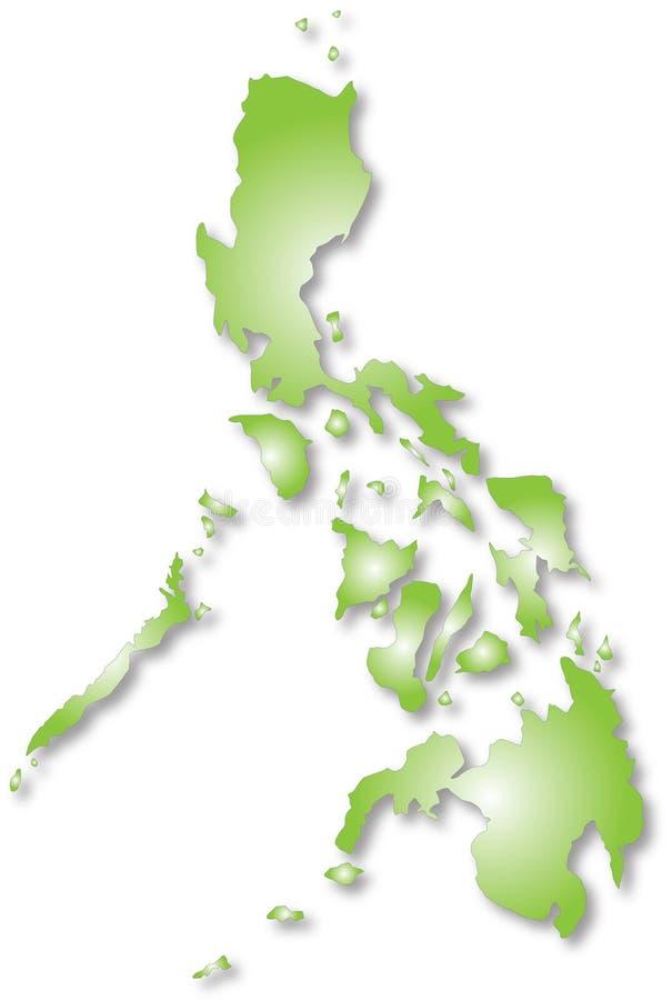 Philippinen-Karte lizenzfreie abbildung