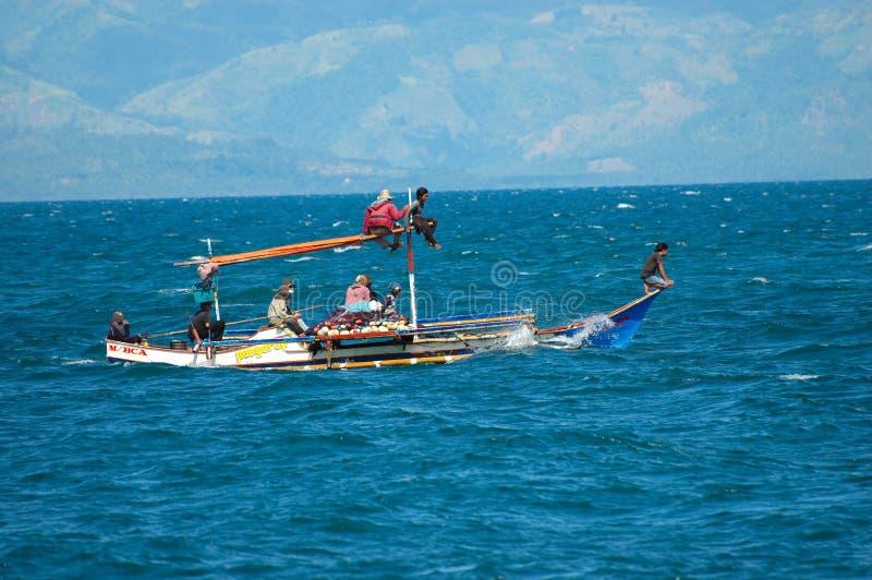 Philippinen, Mindanao, Fischereifamilie stockbilder