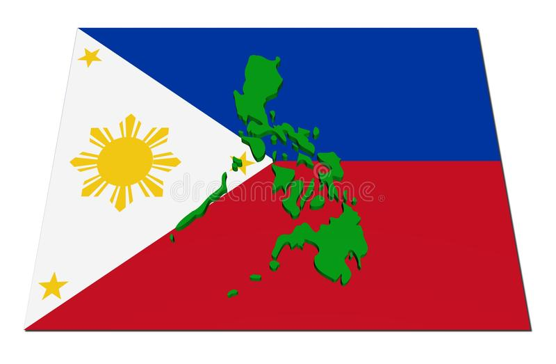 Download Philippines 3d map on flag stock illustration. Image of colorful - 13312240