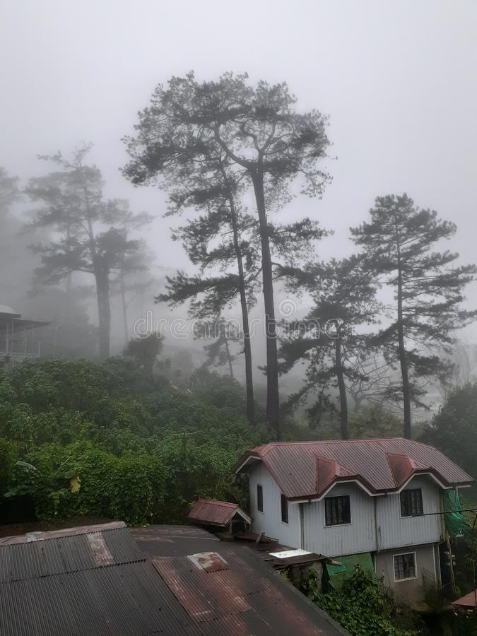 Philippines baguio city @2019 rooftop royalty free stock photo