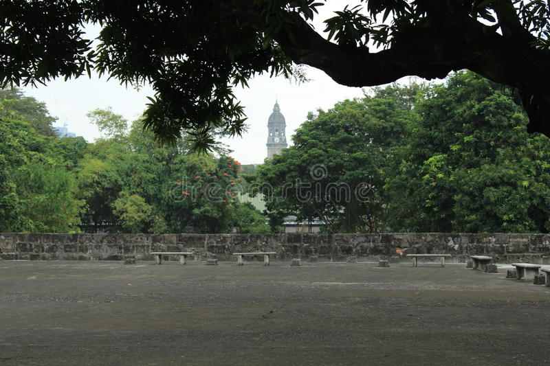 Philippines city Manila. Historic park in the city of Manila, Philippines royalty free stock images