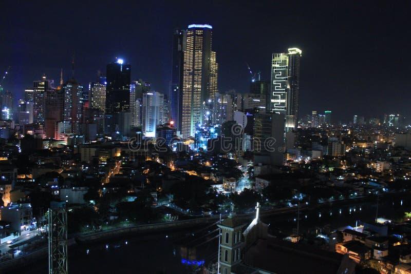 Philippines city Manila. New Filipinos from the height, Philippines city Manila stock image