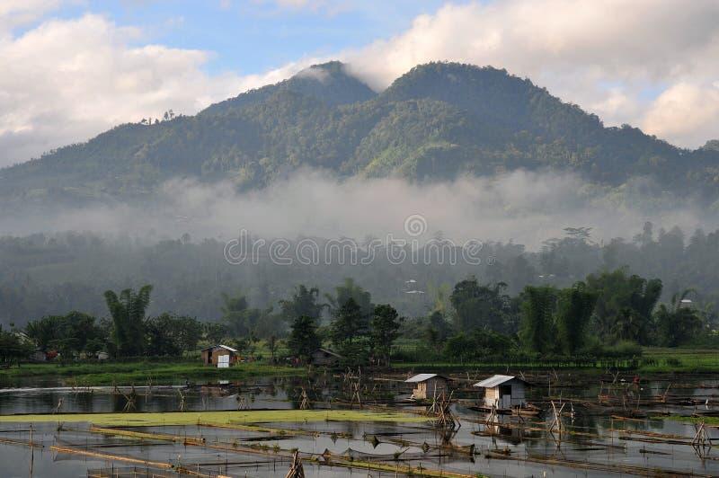 Philippines, Cotabato du sud, lac Seloton photo stock