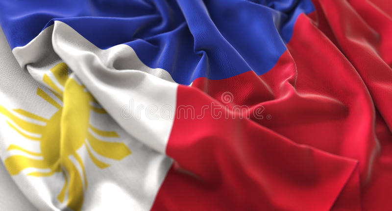 Download Philippines Flag Ruffled Beautifully Waving Macro Close-Up Shot Stock Photo - Image: 91743512