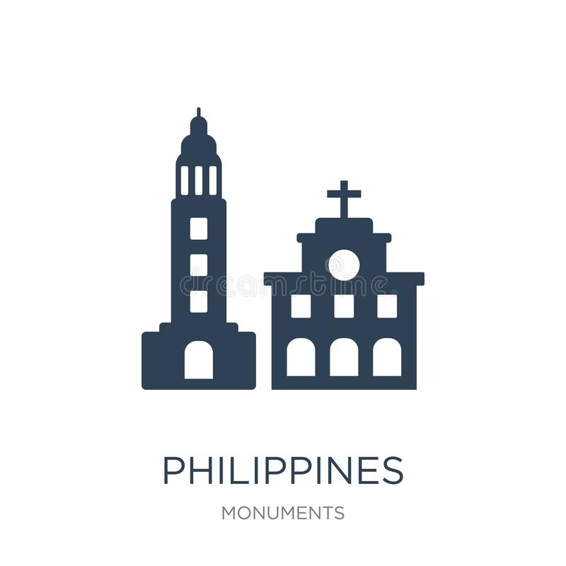 philippines icon in trendy design style. philippines icon isolated on white background. philippines vector icon simple and modern vector illustration