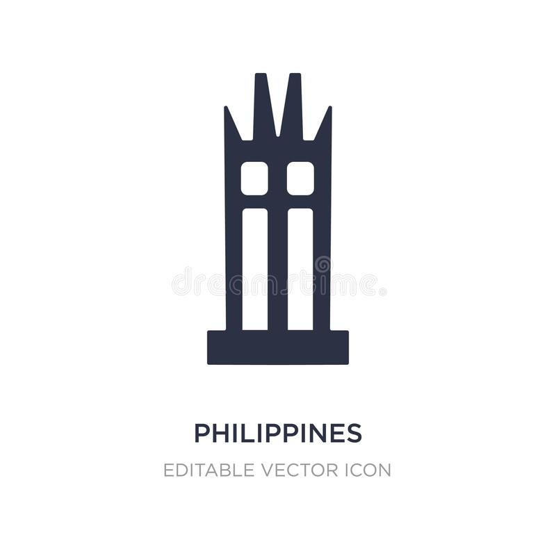 philippines icon on white background. Simple element illustration from Monuments concept vector illustration