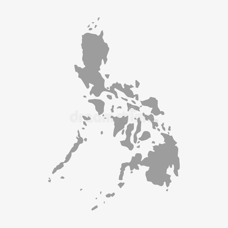 Philippines Map In Gray On A White Background Stock Vector - Philippines map