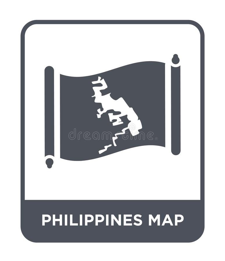 Philippines map icon in trendy design style. philippines map icon isolated on white background. philippines map vector icon simple. And modern flat symbol for stock illustration