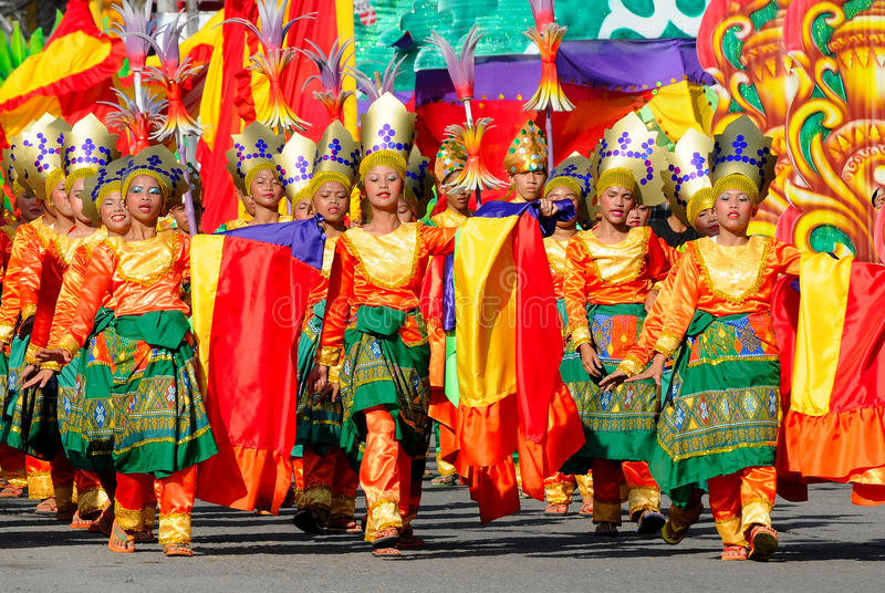 Philippines, Mindanao, .Tnalak festival. The T'nalak Festival is named after a woven cloth created and woven by the women of the province's T'boli tribe, T'nalak royalty free stock photography