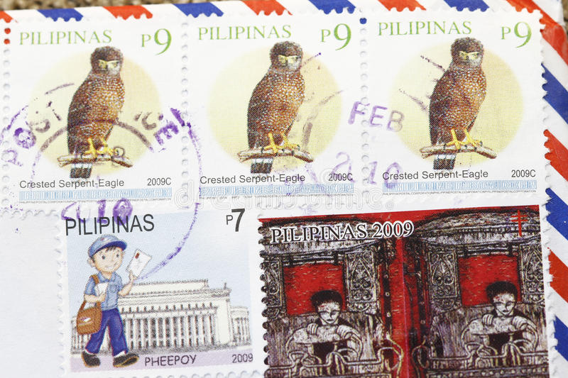 Download Philippines postage stamps stock image. Image of vintage - 14852561