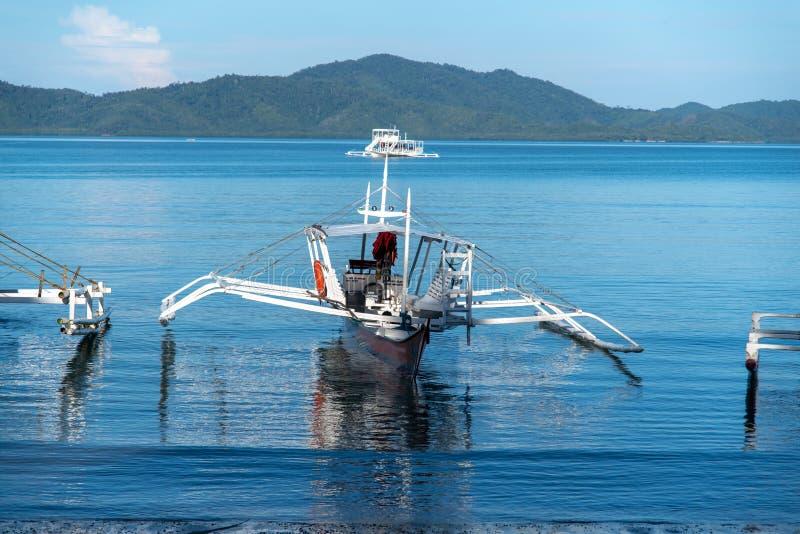 Philippinisch - schöne Landschaft bei Port-Barton, Palawan lizenzfreie stockbilder