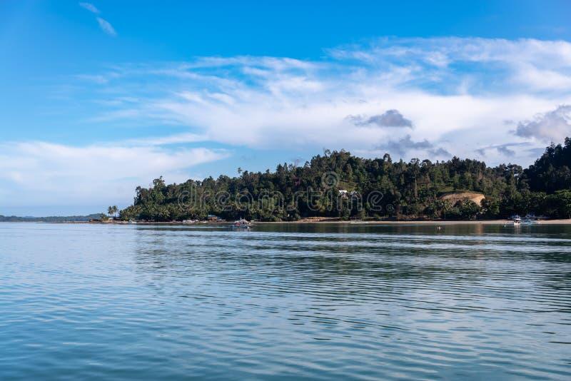 Philippinisch - schöne Landschaft bei Port-Barton, Palawan lizenzfreies stockfoto