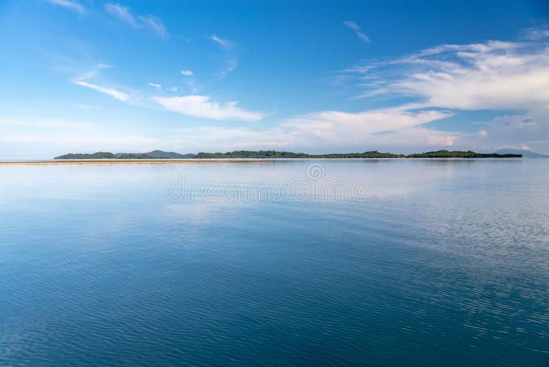 Philippinisch - schöne Landschaft bei Port-Barton, Palawan stockfotos