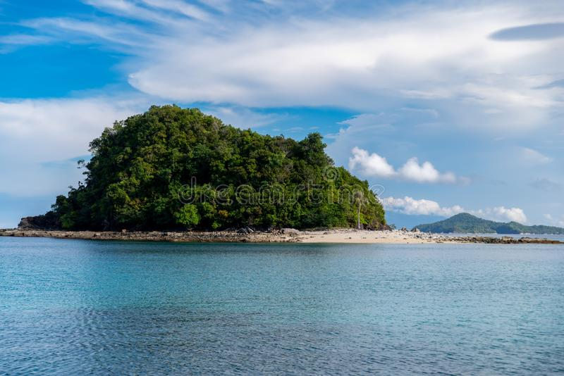 Philippinisch - schöne Landschaft bei Port-Barton, Palawan stockbilder