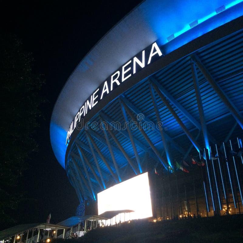 Philippinische Arena-Nacht lizenzfreie stockbilder