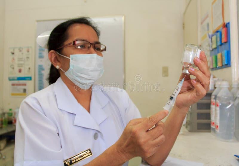 Philippinische Krankenschwestern lizenzfreie stockfotografie