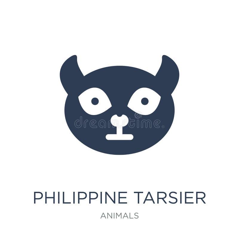 Philippinische tarsier Ikone Modischer flacher Vektor philippinisches tarsier ich vektor abbildung
