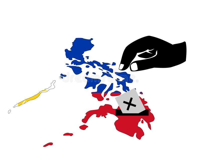 Philippinische Wahl stock abbildung