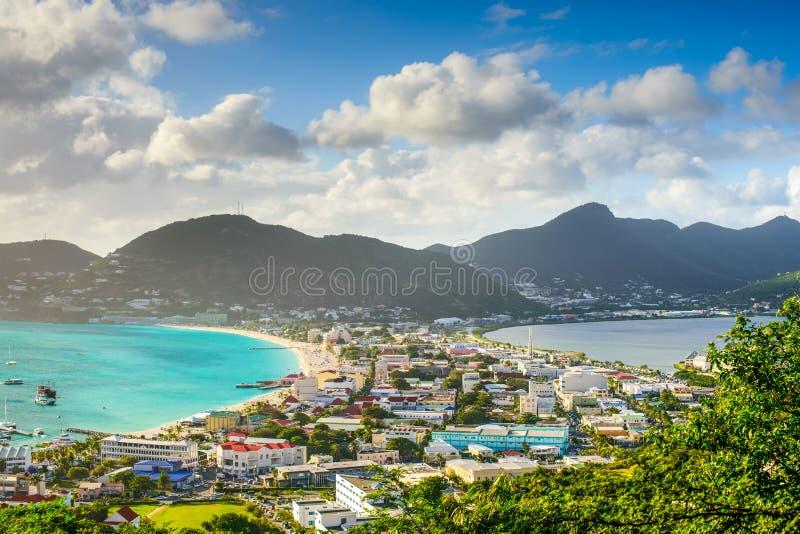 Philipsburg Sint Maarten fotografering för bildbyråer