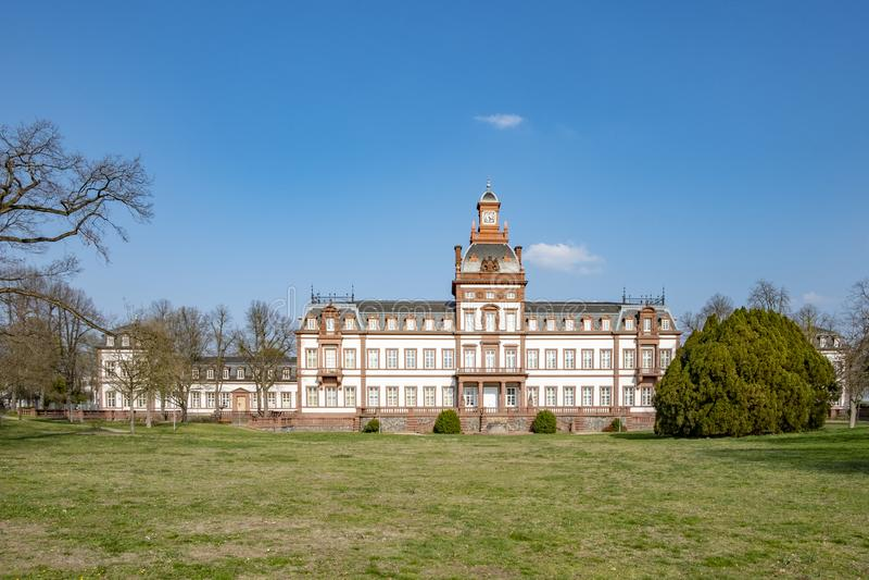 Philipsruh slott, Hanau, Tyskland royaltyfri fotografi