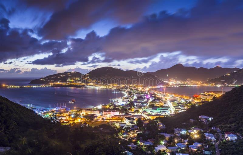 Philispburg, Sint Maarten, Dutch Antilles. Philipsburg, Sint Maarten, Dutch Antilles cityscape at the Great Salt Pond royalty free stock image