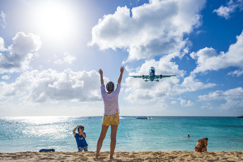 Download Maho Beach, Philipsburg, Sint Maarten, Dutch Antil Editorial Stock Photo - Image: 36645738