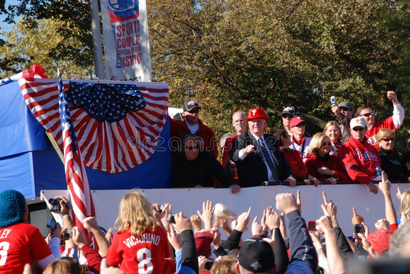 Phillies World Series 2008 Parade royalty free stock photography