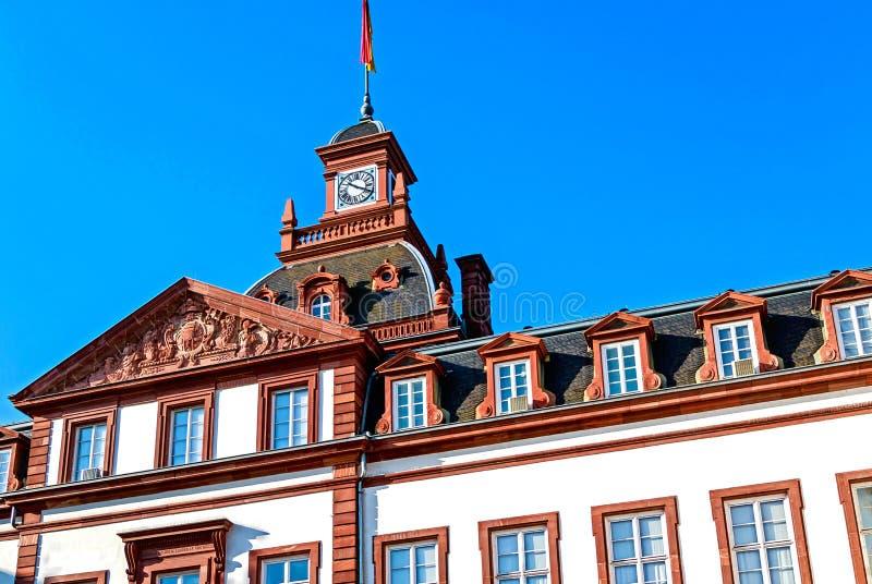 Phillipsruhe巴洛克式的城堡在哈瑙,德国 免版税库存照片