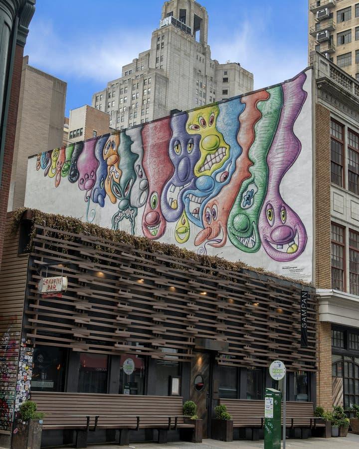 ` Philly-Klumpen-Satz ` durch Kenny Scharf, Philadelphia, Pennsylvania lizenzfreie stockfotografie