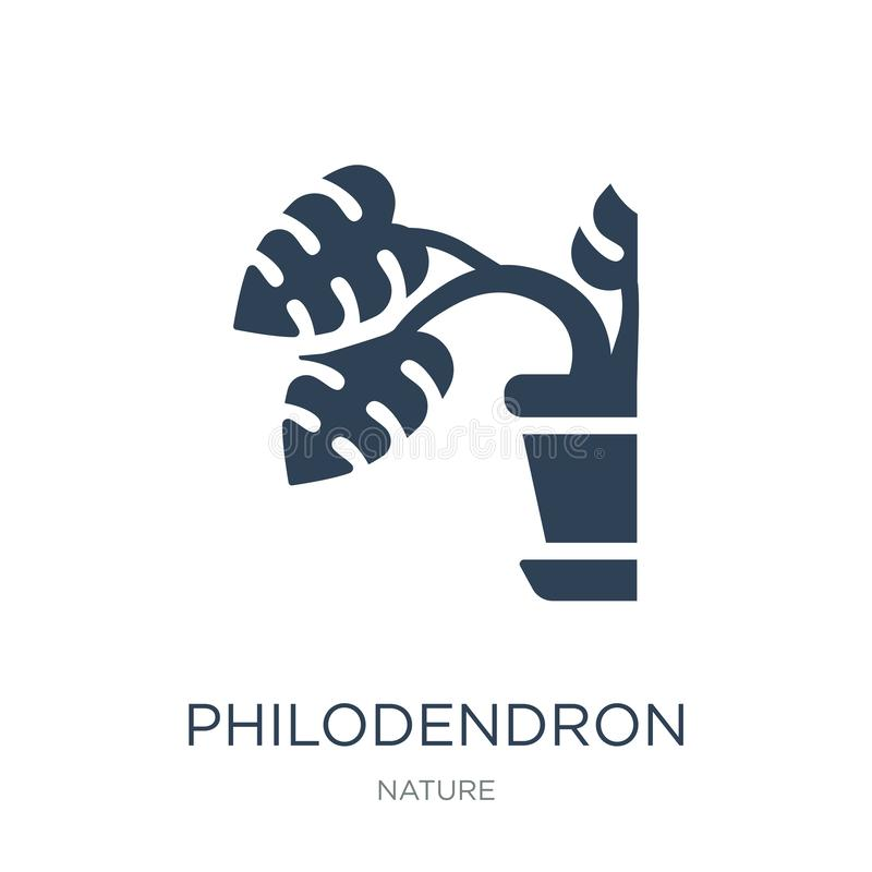 philodendron icon in trendy design style. philodendron icon isolated on white background. philodendron vector icon simple and royalty free illustration